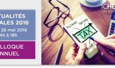 Colloque annuel de fiscalité d'ICHEC-ESSF 2016